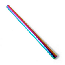 The Last Straw Stainless Steel Smoothie Straw  Rainbow   671371099148