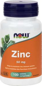 Now Foods Zinc 50mg 100 tablets 50mg | 733739815200