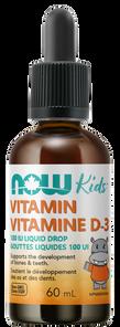 Now Foods Kids Vitamin D-3 100IU Drop Liquid | 733739803702