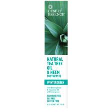 Desert Essence Natural Tea Tree Oil & Neem Toothpaste Wintergreen 176 g  718334220536