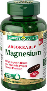 Nature's Bounty Absorbable Magnesium 125 Softgels   029537599481