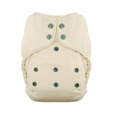 Thirsties Natural One Size Fitted Snap Diaper Fin 8-40 lbs | 816905020193 | SKU : TB-1237-001