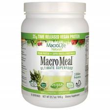 MacroLife Naturals Vegan MacroMeal   Vanilla   615g   852434001784