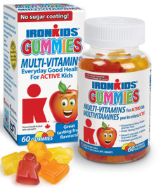 Ironkids Gummies Multi-Vitamins 60 gummies | 683702100065