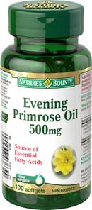 Nature's Bounty Evening Primrose Oil 500 mg   029537036399