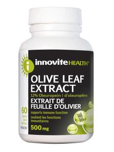 Innovite Health Olive Leaf Extract 500mg 60 veg capsules | 626712100328