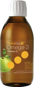 NutraSea+D Omega-3 + Vitamin D EPA & DHA 1250mg Liquid Apple 200ml | 850652000275
