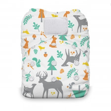 Thirsties Natural One Size All In One Hook and Loop Diaper Woodland 8-40 lbs (DISCONTINUED, WHILE SUPPLIES LAST) | 812087019604
