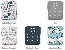 Thirsties One Size All In One Snap Diaper Package Adventure Trail 8-40 lbs 5 Pack | SKU : TB-1268-001| 816905022166