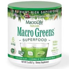 MacroLife Naturals Macro Greens Superfood 56.7 grams | 054139907006