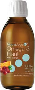 NutraVege 2x Omega-3 Plant Extra Strength Liquid Cranberry Orange 200ml | 880860006127
