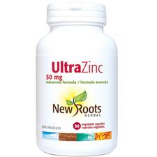 New Roots Herbal Ultra Zinc 50mg 90 veg capsules | 628747109765