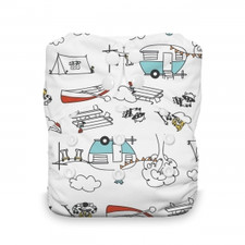 Thirsties Natural One Size All In One Snap Diaper Happy Camper 8-40 lbs | 816905021053  |SKU : TB-1222-001