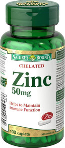 Nature's Bounty Chelated Zinc 50 mg | 029537020602