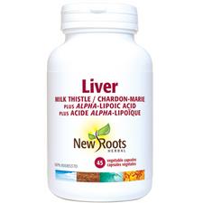 New Roots Herbal Liver Milk Thistle Plus Alpha-Lipoic Acid 45 veg capsules | 628747102100