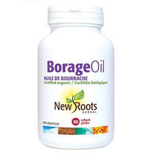 New Roots Herbal Borage Oil Certified Organic 90 soft gels   628747107754