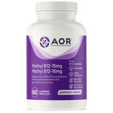 AOR Methyl B12 15mg (Formerly Methylcobalamin Ultra) | 624917040456