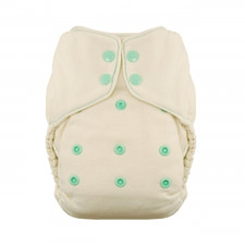 Thirsties Natural One Size Fitted Snap Diaper Moss 8-40 lbs | 816905020209  | SKU : TB-1238-001