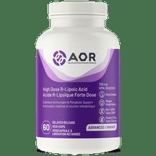 AOR High Dose R-Lipoic Acid 60 Delayed Release Vegi-Caps | UPC: 624917042894