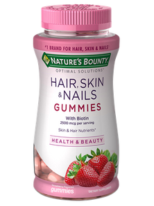 Nature's Bounty Hair Skin and Nails with Biotin Gummies   029537581189, 029537535458
