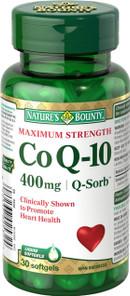 Nature's Bounty Maximum Strength CoQ10 400 mg   029537025324