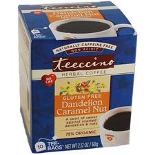 Teeccino Herbal Coffee Gluten Free Dandelion Caramel Nut | 795239432202