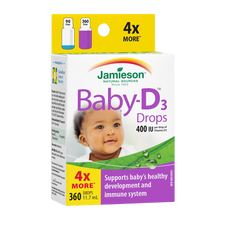 Jamieson Baby-D Vitamin D3 Droplets 400 IU - 11.7 ml | 064642069252