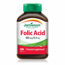 Jamieson Folic Acid 400 Mcg/ 0.4 Mg 200 Tablets   UPC: 064642027658