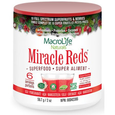 MacroLife Naturals Miracle Reds Superfood 56.7 grams | 852434001043