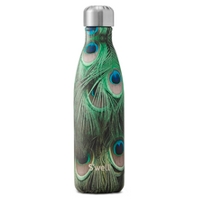 S'well Bottle Flora and Fauna Stainless Steel Water Bottle Peacock | 843461102230