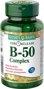 Nature's Bounty Time Release Vitamin B-50 Complex   029537000246