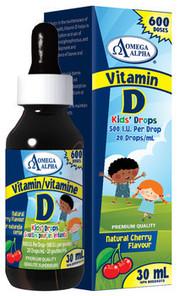 Omega Alpha Vitamin D 500 I.U. Kids   826913127005