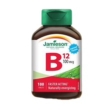 Jamieson Vitamin B12 Cobalamin 100 Mcg 100 Tablets   064642020444