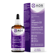 AOR Vitamin D3 Liquid Adult 1000IU per 0.2ml 50 ml   624917042160