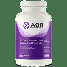 AOR Glucosamine & Chondroitin 120 Vegi Caps | SKU: AOR-1128-0001 | UPC:624917043082