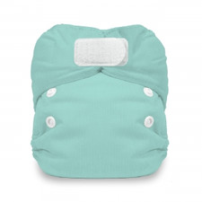 Thirsties Newborn All In One Hook and Loop Diaper Aqua 5 to 14 lbs (DISCONTINUED, WHILE SUPPLIES LAST) | SKU : TB-1075-001 | 812087017747