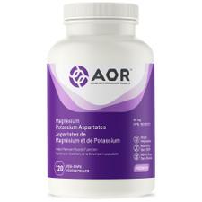AOR Magnesium Potassium Aspartates 80mg 120 Vegi-Caps | 624917042245