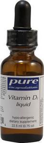 Pure Encapsulations Vitamin D3 Liquid 22.5 ml | 766298010786