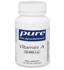 Pure Encapsulations Vitamin A  - 10,000 IU 120 capsules   766298014456
