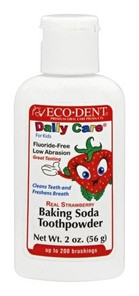 Eco-DenT DailyCare For Kids Real Strawberry Baking Soda Toothpowder | 000360000054