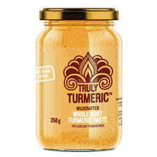 Truly Turmeric Wildcrafted Whole Root Black Pepper Turmeric Paste 250 grams   627843610564