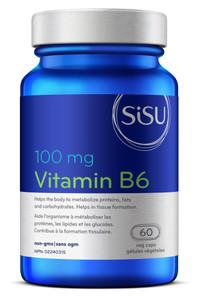 Sisu Vitamin B6 100mg 60 Veg Capsules   777672010261