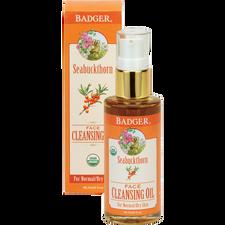 Badger Seabuckthorn Face Cleansing Oil For Normal To Dry Skin | 634084270075