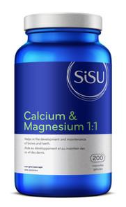 Sisu Calcium & Magnesium 1:1 with D3 200 capsules | 777672011411