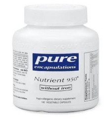 Pure Encapsulations Nutrient 950 without Iron 180 veg capsules | 766298010168