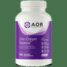 AOR Zinc Copper Balance 100 Veg Capsules |  624917042917