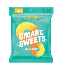 Smart Sweets Peach Rings 50g Individual Packet | 0669809200549