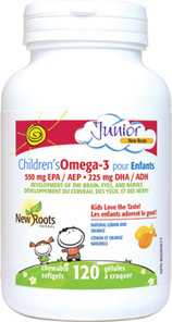 New Roots Herbal Children's Omega-3 120 Chewable Softgels |628747118569