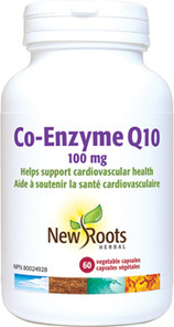 New Roots Herbal Co-Enzyme Q10 100mg 60 Veg Capsules |628747102889