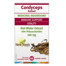 New Roots Herbal Cordyceps Extract 500mg 60 Veg Capsules   628747118668